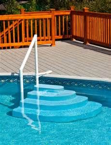 Swimming Pool Stairs Layout Beauty Home Decoration With Images Pool Steps Above Ground Pool Steps
