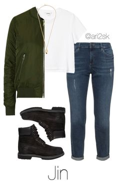 Run- Jin  by ari2sk on Polyvore featuring polyvore, fashion, style, Monki, Topshop, Timberland, Pembe Club and clothing