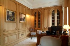 18th century style oak panelled library and study.jpg