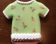 Onesie Cookie favores 12 niña  para baby shower o cumpleaños by MarinoldCakes | Etsy