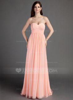 Bridesmaid Dresses -  124.99 - Empire Sweetheart Sweep Train Chiffon  Bridesmaid Dress With Ruffle (007015681 d7d61a8b181e