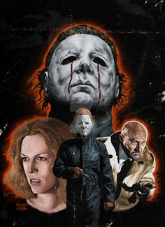 Original coverart for Scream! Factory's release of Halloween II on blu ray
