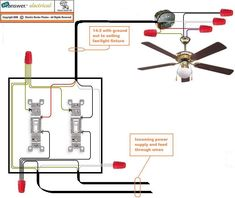 wiring diagram fan light, source at the fixture electrical in 2019