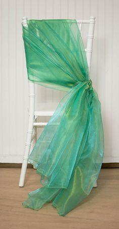 3 yards of 58 inch wide iridescent Green Organza Sheet