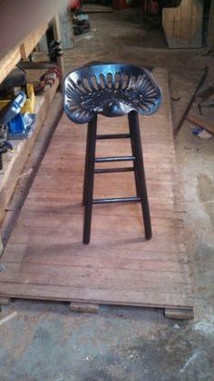 Antique tractor seat