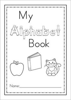 1000 images about work sheets for the class room on for Printable alphabet book template
