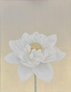 佐々木 理恵子 | 作家 | ギャラリー 桜の木 Female Portrait, Woman Portrait, Lotus Pond, Japanese Modern, Chinese Brush, Still Life Art, Japan Art, Watercolour Painting, Modern Art