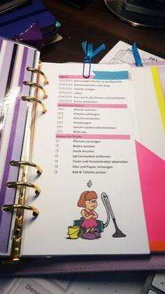 Putzplan für Kikki K oder Filofax Einlage (printable) Cleaning Planner von…