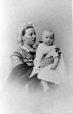 Grand Duchess Alexandra Petrovna Romanova of Russia with her son,Grand Duke Peter Nikolaevich Romanov of Russia. Tsar Nicholas, Grand Duke, Oldenburg, Empire, Royalty, Princess, Lost, Europe, Board