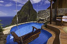 A saweet suite called the Ladera in St. Lucia. This is the place we are looking at for our honeymoon. i can't say enough, wow.