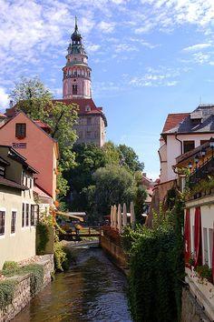 The beautiful city of Český Krumlov in South Bohemia, Czech Republic