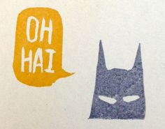 oh hai, it's you're favorite super hero.... Sketched and carved by Jen Ward.