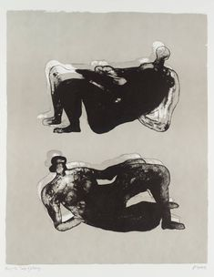 'Two Reclining Figures,' Henry Moore, 1975. Lithography