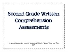 Weekly Assessments that include mClass reading 3D questions to use with Houghton Mifflin Themed Skills tests.