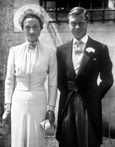 King Edward VIII abdicated the throne to marry Wallis Simpson, an American divorcee.  They were given the title of Duke & Duchess of Windsor and essentially exiled.