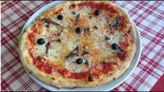 Fresh pizza with sardines and olives! Super Pizza, Pizza T, No Salt Recipes, Dumplings, Vegetable Pizza, Quiche, Mozzarella, Recipies, Bread