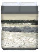 Silver Waves Duvet Cover by Marnie Patchett