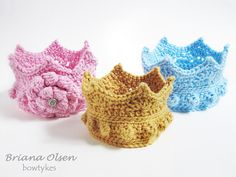 This would be awesome with the Pretty Princess Lovey! Ravelry: Crown 1 pattern by Thomasina Cummings