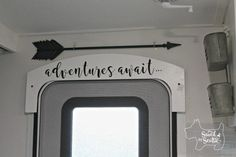 Saved by Scottie rv remodel after door Cricut saying - Site Title Travel Trailer Camping, Rv Camping, Camping Hacks, Travel Trailers, Camping Ideas, Rv Travel, Glamping, Rv Hacks, Airstream Trailers