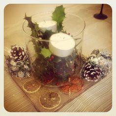 Christmas DIY table centre piece