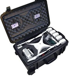 Case Club Waterproof DJI Phantom 4 Drone Wheeled Case with Silica Gel (Propellers On) : Camera & Photo Phantom 4 Drone, Phantom 3, Drones, Drone Quadcopter, Gopro, Pilot, Drone Technology, Technology Gadgets, Tech Gadgets