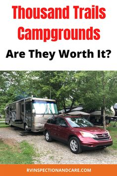 There are lots of opinions about Thousand Trails campgrounds, both for and against. So find out what the pros and cons of these RV campgrounds are before you consider buying a Thousand Trails campground membership. Find out what you need to know now! #thousandtrails #rvcamping #campgroundmemberships Rv Camping Tips, Camping Ideas, Camping With Kids, Family Camping, Cheap Rv Living, Rv Videos, Rv Clubs, Motorhome Living, Best Rv Parks