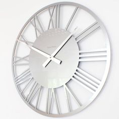 Our range now includes a modern acrylic skeleton clock in gloss White, Black, Red, Silver, for sale to buy online UK Large Silver Wall Clock, Chrome Wall Clock, Wall Clock Light, Large Clock, Kitchen Wall Clocks, Farmhouse Wall Clocks, Wall Clocks Uk, Clock Wall, Skeleton Wall Clock