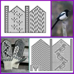 Afghan Crochet Patterns, Knitting Patterns, Fair Isle Pattern, Slipper Boots, Knitting Charts, Hand Warmers, Mittens, Projects To Try, Photo Wall