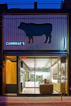 S on behance shopfront shop front design, steak shop y meat st Retail Facade, Shop Facade, Shop Front Design, Store Design, Steak Shop, Butcher Store, Carnicerias Ideas, Meat Store, Café Bar