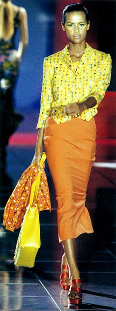 Nadege du Bospertus Gianni Versace S/S 1993