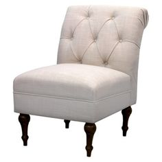 Threshold™ Tufted Back Slipper Chair - Cream Linen. I'm getting this chair for my room.