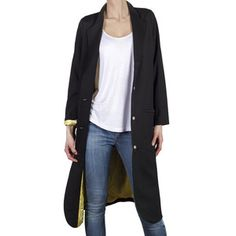 Mmmm. Because I need more coats. Thea Long Jacket Black, $175, now featured on Fab.
