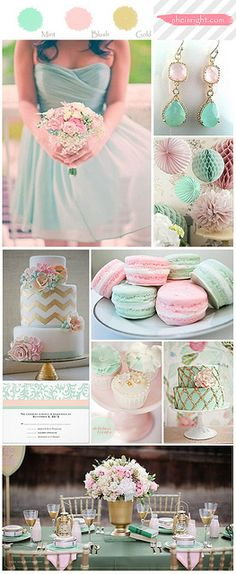 Blush, Gold, and Mint. @Kristina This is the one that reminded me of you! So soft and pretty!