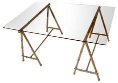 Maison Jansen Sawhorse Coffee Table - Coffee Tables - Living Room - Furniture   One Kings Lane