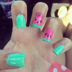 #watermelon #nails #acrylics  @corrles