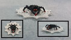 Beading4perfectionists: Spidey in web earrings / pendant advanced beadin...