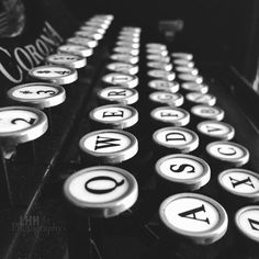 Wall Decor  Black And White Corona Typewriter by LHHPhotography, $15.00