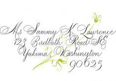 Lovely wedding calligraphy.