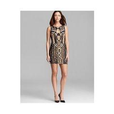 DIANE VON FURSTENBERG Dress Neapoli Mini Metallic  SPECIAL PRICE: $558.75 via savoirmode.com  #savoirmode #chiffon #gown #coral #blacktie #formal #evening #eventdress #specialoccasion #metallic #beaded #sparkle #drape #dress #dresses #deals #firstmarkdown #freshdeals #shop