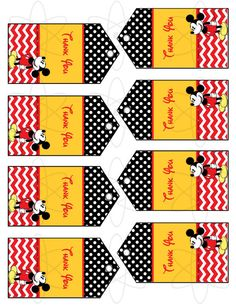 INSTANT DOWNLOAD Mickey Mouse Favor Tags by AtomDesign on Etsy