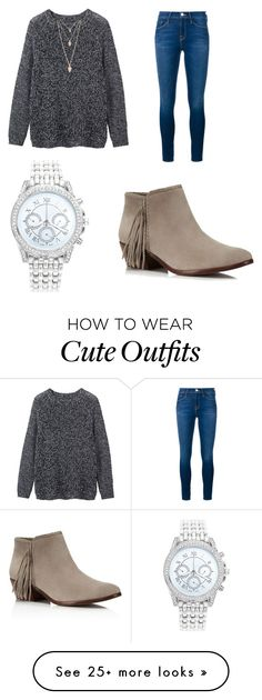 """""""Cute fall/winter outfit"""" by maddyy6 on Polyvore featuring Toast, Forever 21, Lane Bryant, Frame Denim, Sam Edelman, women's clothing, women, female, woman and misses"""