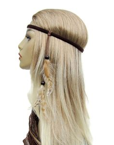 Free Spirit Hippie headband with striped by feathers2gether, $15.00