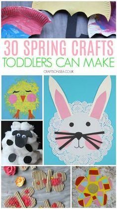 Easy Spring crafts toddlers can make #springcrafts #toddlers #preschool #kidscrafts