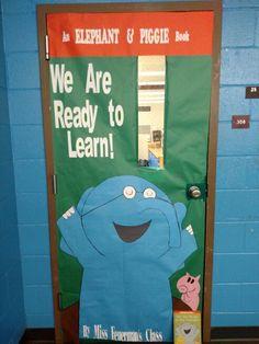 Mo Willems Elephant & Piggie classroom door