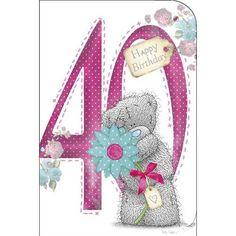 Cute Tatty Teddy ~ Happy 40th. Happy Birthday Wishes Quotes, Happy Birthday Cards, Birthday Greetings, Tatty Teddy, Bear Birthday, 40th Birthday, Celebration Love, Blue Nose Friends, Baby Clip Art