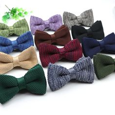 Factory Men Cotton Bow Tie Party Gift Adjustable Two Layer Color Ties Necktie