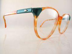 Vintage 80s Lacoste eyeglasses mod 808 col 3492 size 54/16 140 croc logo France