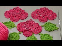 Урок вязания.Как связать цветок крючком с лепестками из гусенички. Irish lace. - YouTube