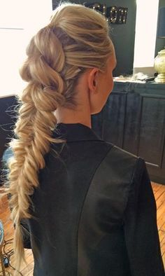 How-To do a Pull-Through Pony into a Fishtail plait | Modern Salon...x