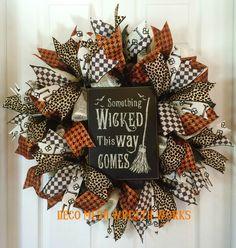 Halloween Wreath, Halloween Wreaths, Witch Wreath, Wicked Wreath, Burlap Wreath…